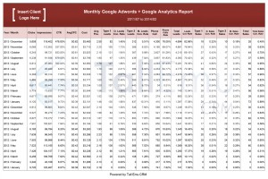 Report Adwords & analytics combined in CRM