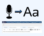 Voice Recognition and Transcription into CRM